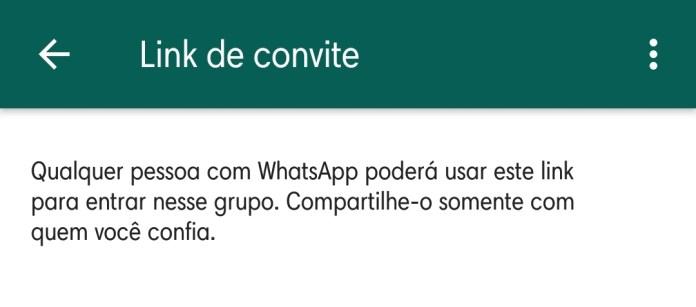 Google está indexando links de grupos do WhatsApp Convite via Link