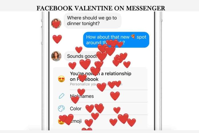 Facebook Valentine on Messenger