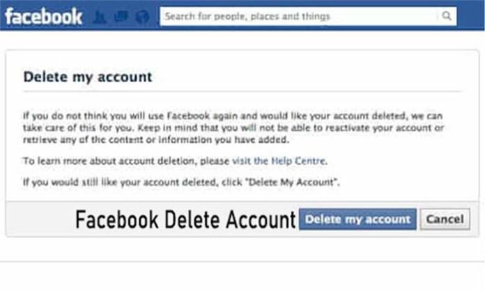 Facebook Delete Account - Delete My Facebook Account | Delete Facebook Account