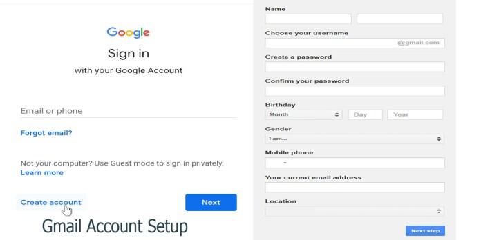 Gmail Account Setup