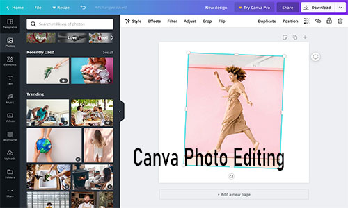 Canva Photo Editing - Best Online Photo Editor | Canva Photo Editor App Free Download