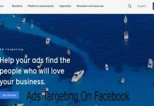Ads Targeting On Facebook