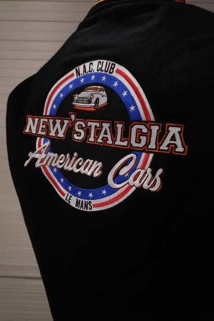Teddy Cuir Original New' Stalgia Américan Cars Le Mans Teddy-jacket.com