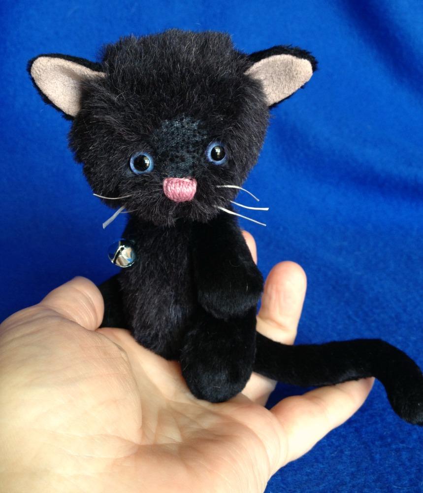 Eclipse - Artist Black Cat - a Pixie Kitty by Laura Lynn