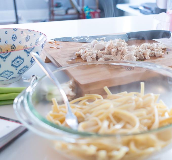 Chrissy Teigen Sesame Chicken Noodles Recipe