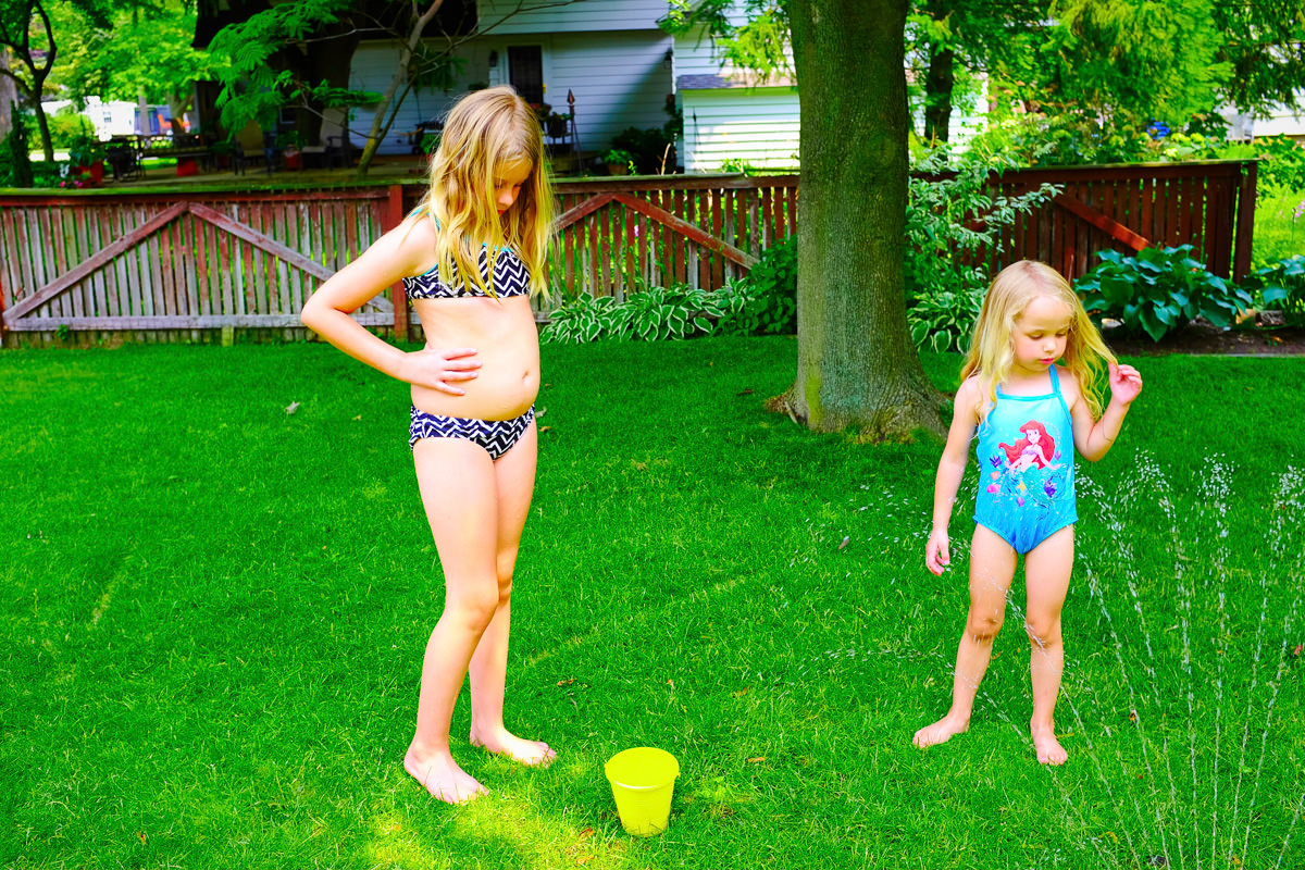 """Leah: """"Her is stealing my water!""""; Aly: """"It's taking forever to fill up!""""; Me: [walk away]"""