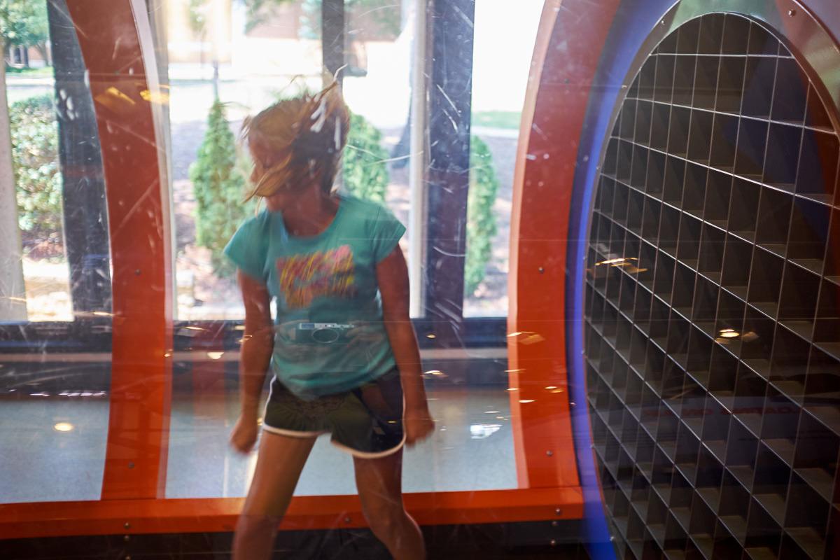 Aly enjoying the wind tunnel