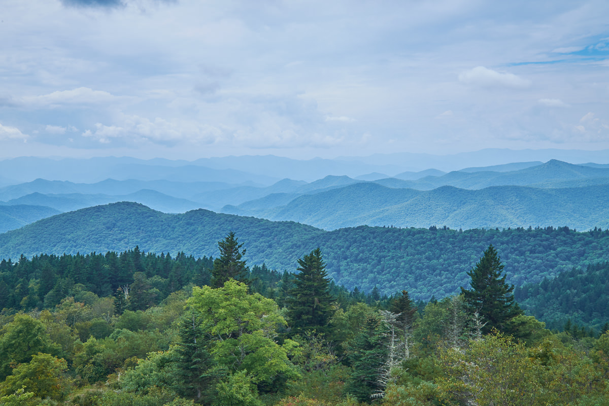 Cowee Mountain Overlook, Blue Ridge Parkway