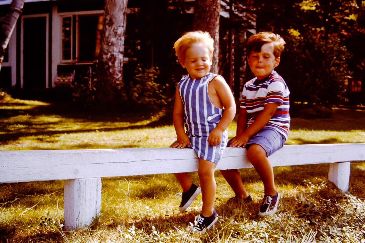 August 1972: Walloon Lake; Doug, Dickey
