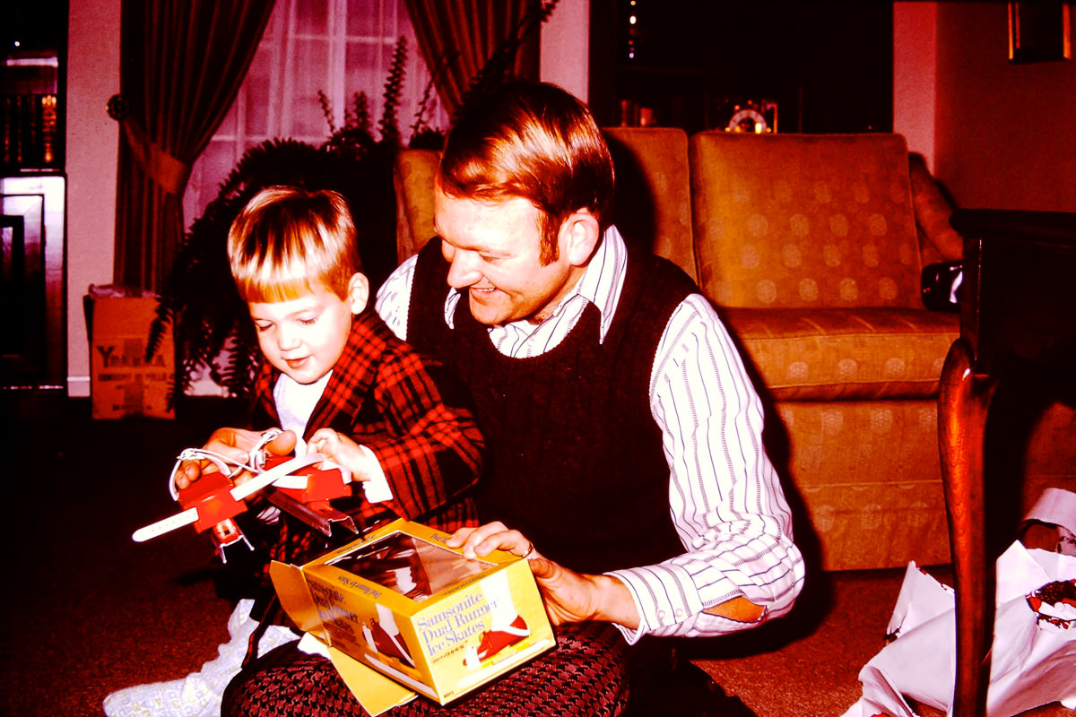 Christmas 1972: Doug, Bill