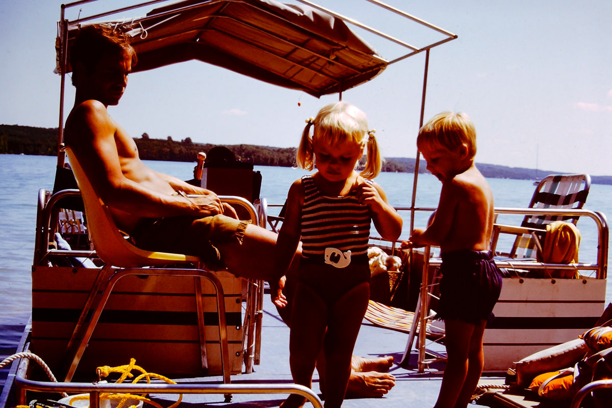 Walloon Lake 1973: Dick, Jenny, Doug