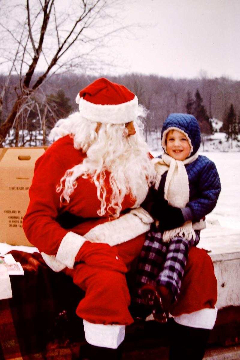 Christmas 1973: Santa, Doug
