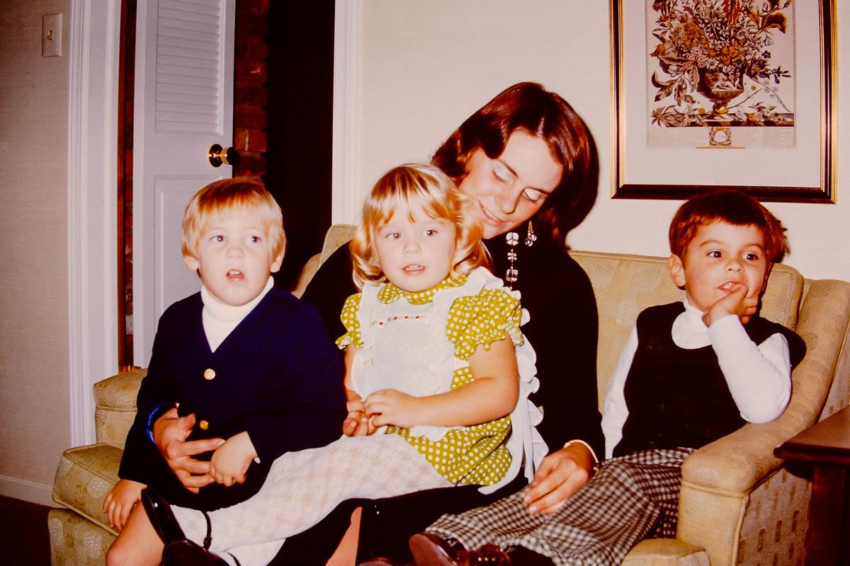 Christmas 1973: Doug, Jenny, Susie, Dickey