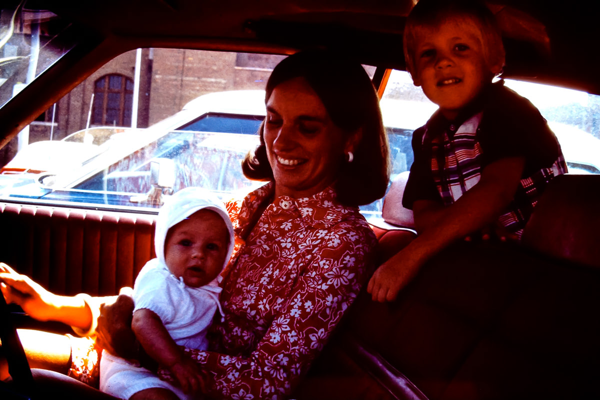 1974: Ted, Jan & Doug taking me home for the first time