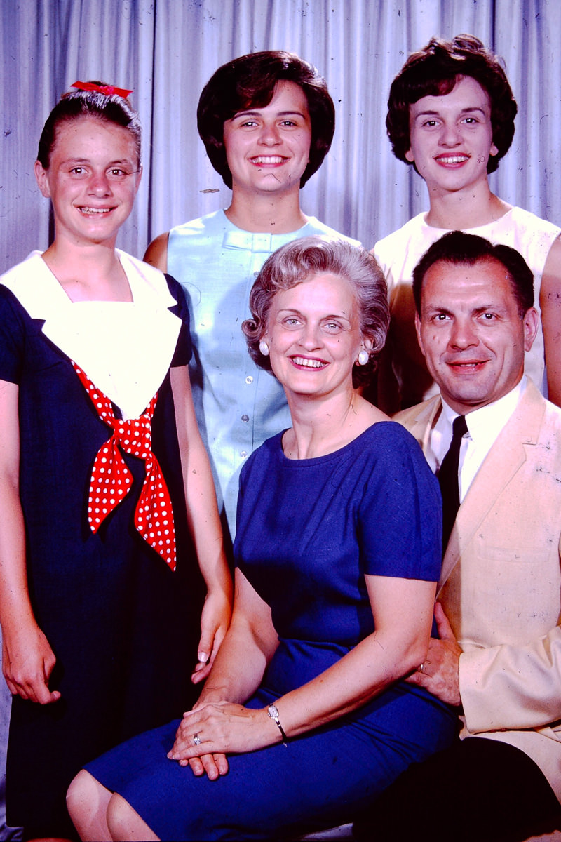 July 1964: Susie, Mary Lou, Jan, Joan, George