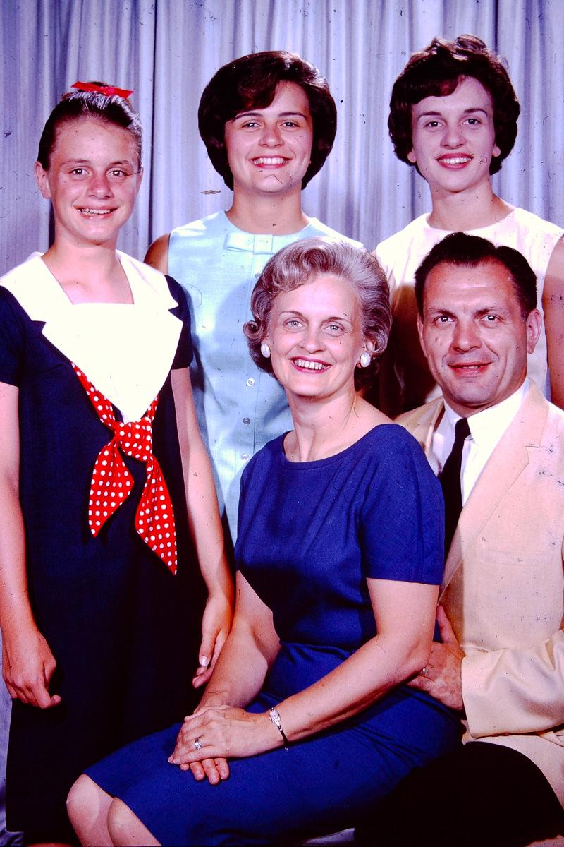 July 1964: Susie, Mary Lou, Jan, Joan, George