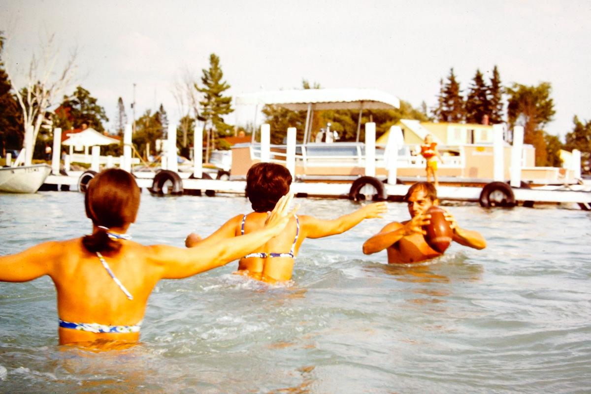 Walloon Lake 1974: Sandy, Mary Lou, Dick