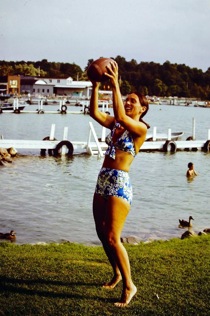 Walloon Lake 1974: Jan. Much better, Mom!
