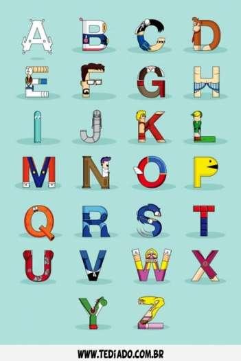Se as letras do alfabeto fosse personagem do video game 4