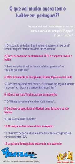 O que vai mudar com o twitter em português? 4