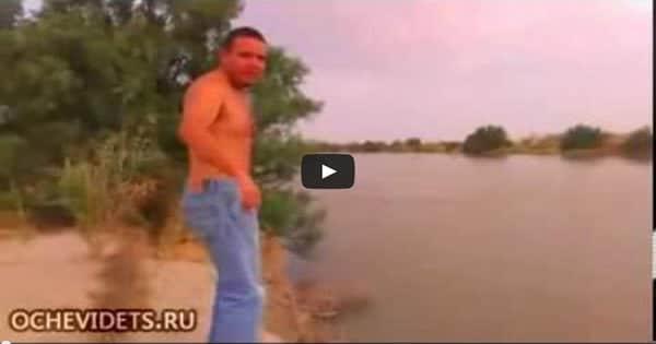 Pensou que o rio era fundo e pulou de ponta 6