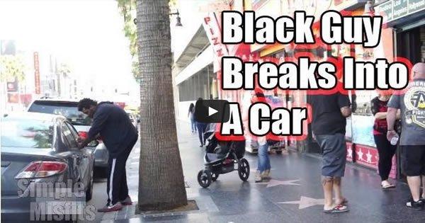 Desculpa qual é a diferença entre um Negro e um Branco ao tentar roubar um carro 3