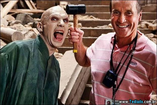 """Por trás das cenas do filme """"Harry Potter"""" (55 fotos) 5"""