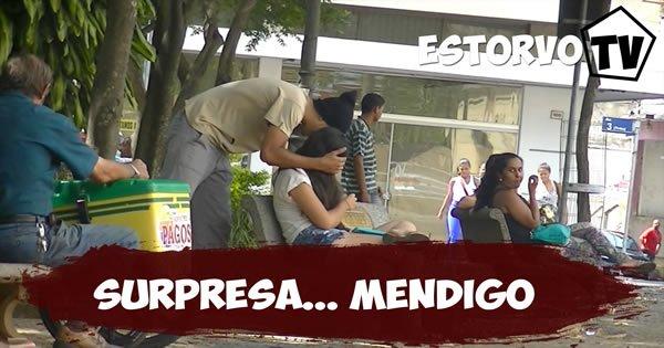 Pegadinha - Mendigo fazendo surpresa 4