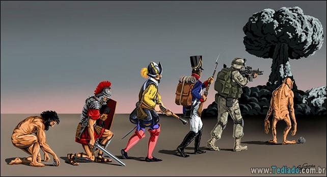 44 Satirical Cartoons da evolução 4