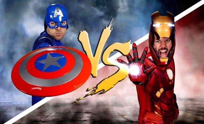 Batalha de rap: Capitão América Vs Homem de Ferro 7