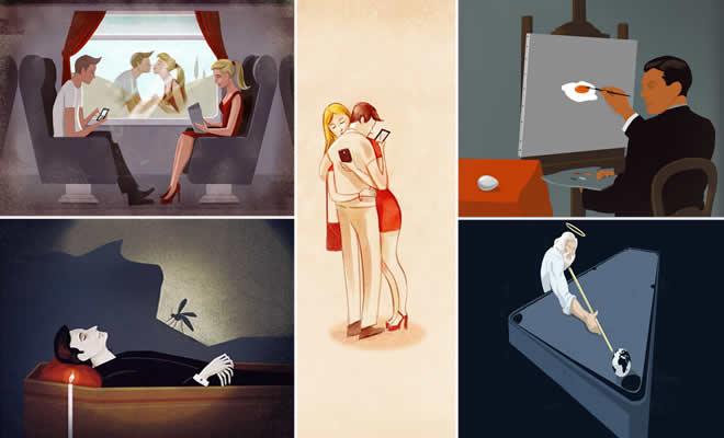 39 ilustrações que mostra a triste verdade da vida moderna 2