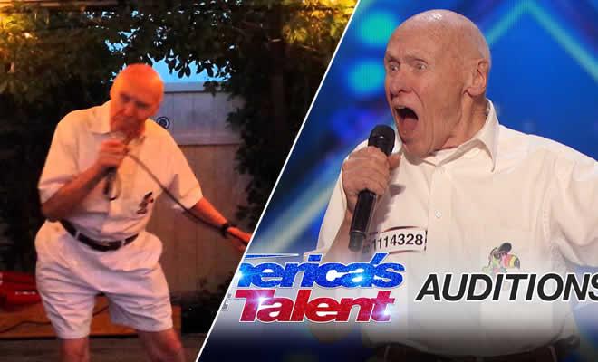 Senhor de 80 anos mostra é cantar no karaokê 3