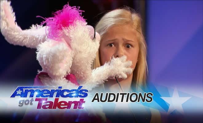Garotinha ventríloqua de 12 anos é aplaudida de pé em programa americano 4