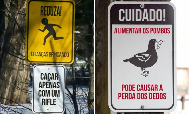 20 placas épicas encontradas no Brasil 44