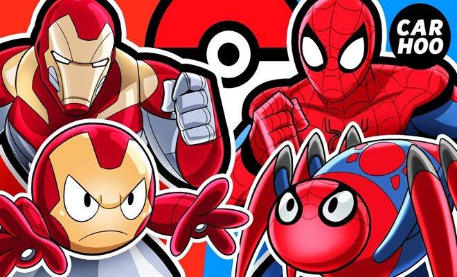 Batalha de Pokémon: Homem de ferro Vs Homem aranha 3