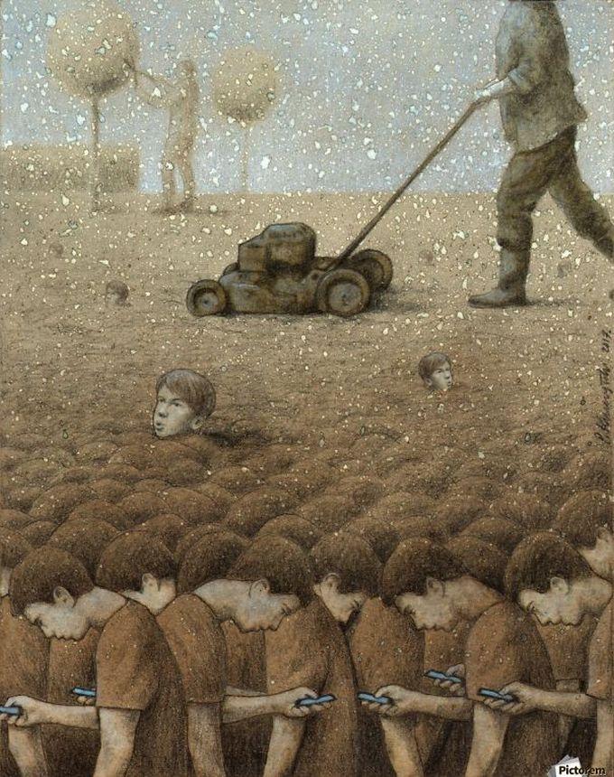 30 ilustrações brutalmente honestas que mostram que há algo de errado com a sociedade de hoje! 8