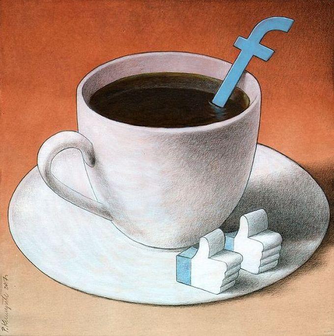 30 ilustrações brutalmente honestas que mostram que há algo de errado com a sociedade de hoje! 13