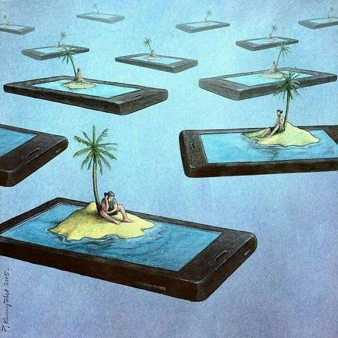 30 ilustrações brutalmente honestas que mostram que há algo de errado com a sociedade de hoje! 26