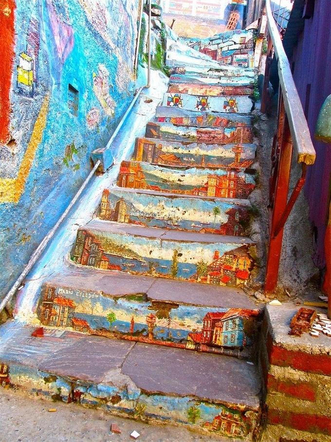 20 escadarias que são incrivelmente artísticas 7