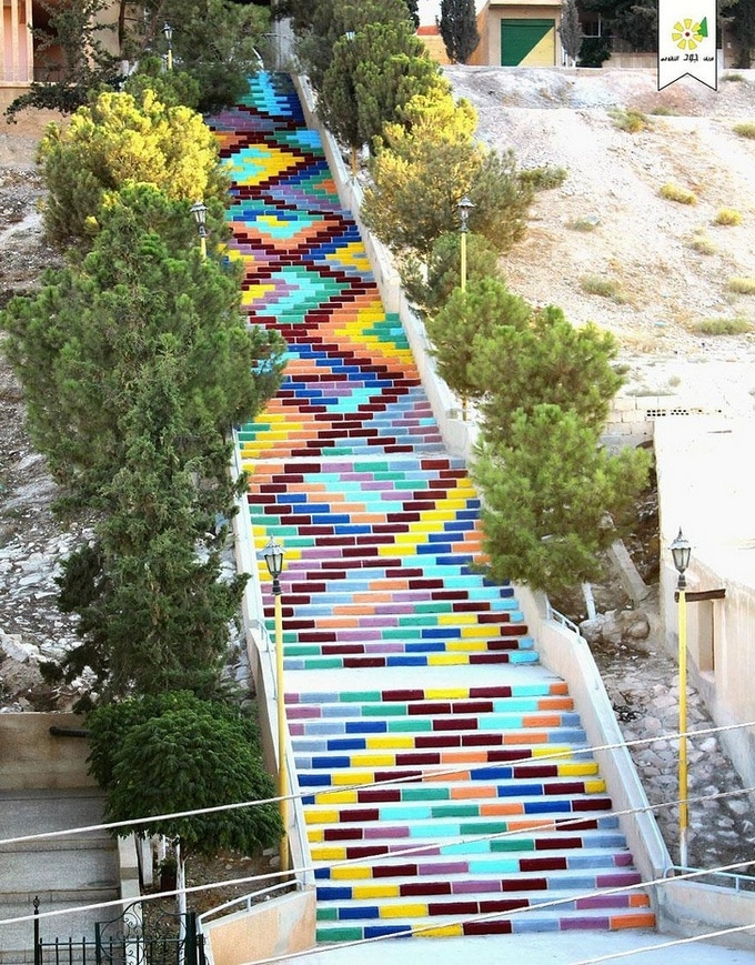 20 escadarias que são incrivelmente artísticas 13
