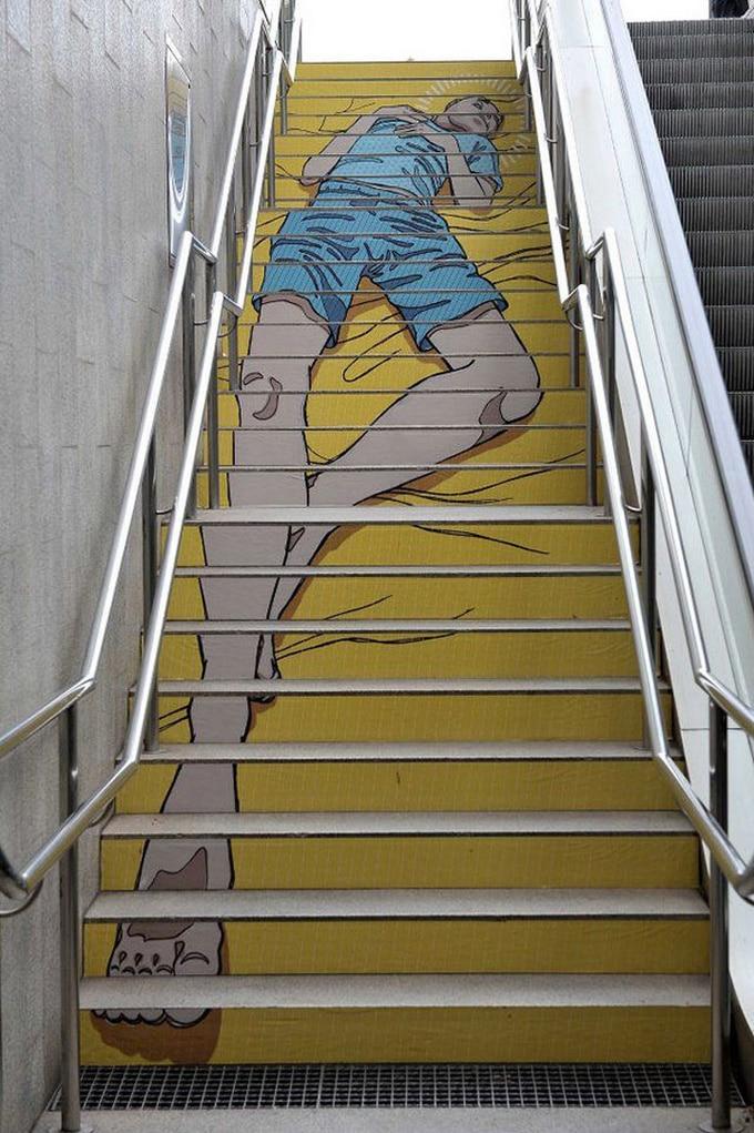 20 escadarias que são incrivelmente artísticas 14