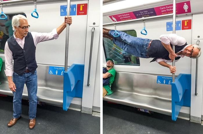Alguém ofereceu ao meu avô um lugar no metrô, ele respondeu dessa forma