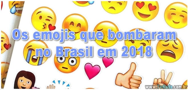 Os emojis que bombaram no Brasil em 2018
