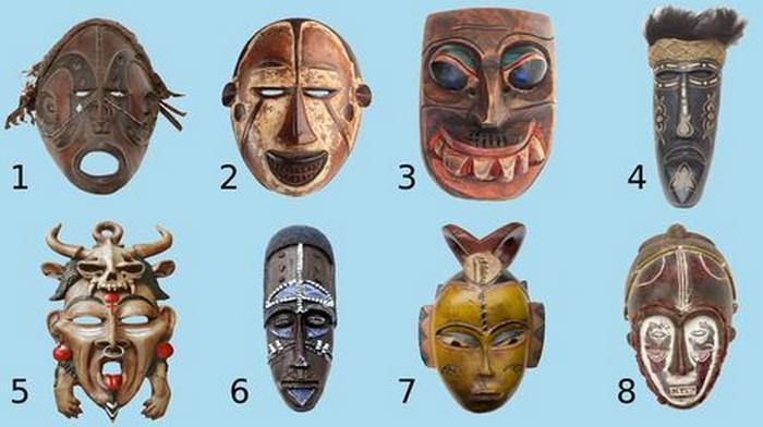 Descubra que tipo de pessoa você é, escolha uma máscara tribal 2