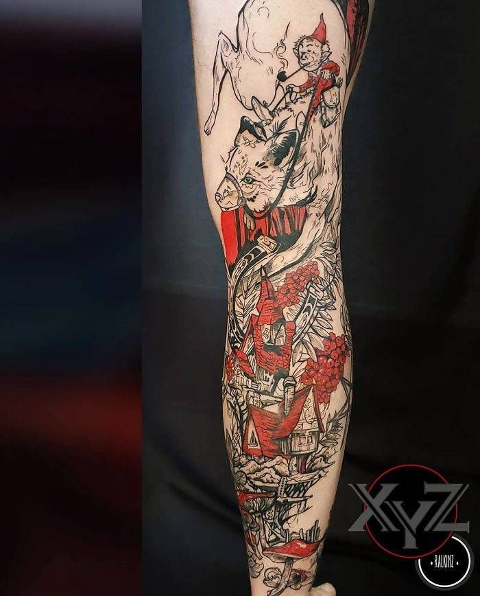Algumas das mais incríveis tatuagens de pernas (43 fotos) 14