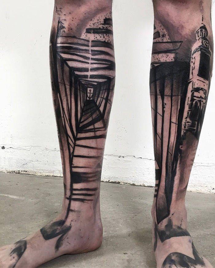 Algumas das mais incríveis tatuagens de pernas (43 fotos) 25