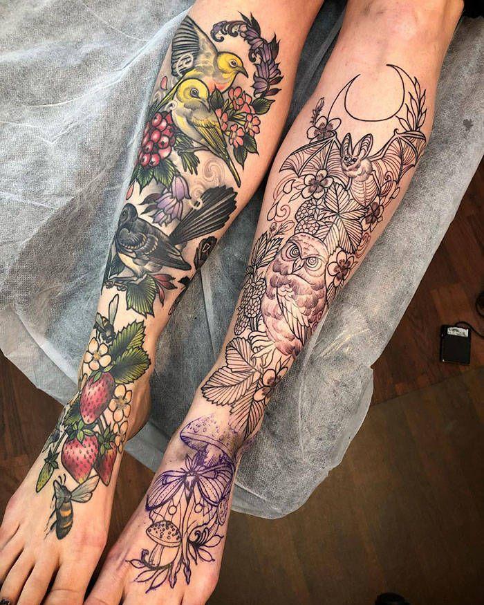 Algumas das mais incríveis tatuagens de pernas (43 fotos) 28