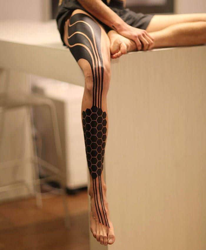 Algumas das mais incríveis tatuagens de pernas (43 fotos) 31