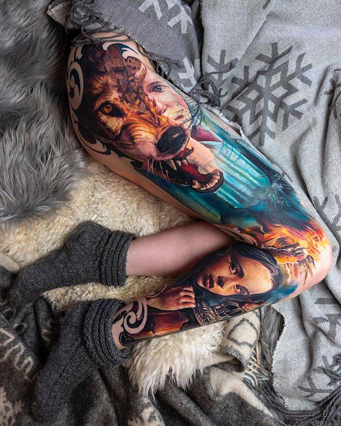 Algumas das mais incríveis tatuagens de pernas (43 fotos) 34