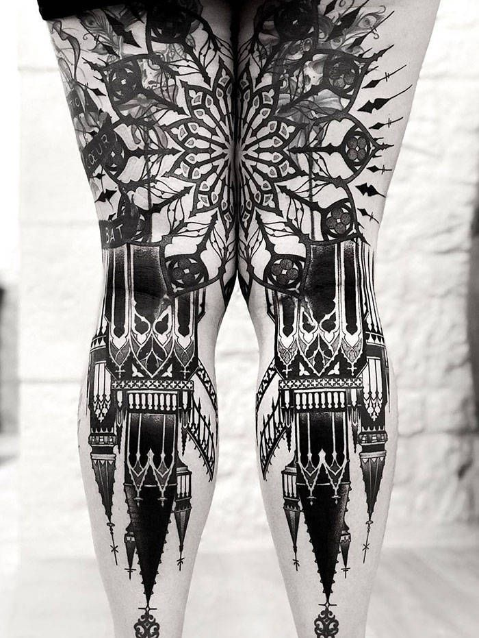 Algumas das mais incríveis tatuagens de pernas (43 fotos) 36